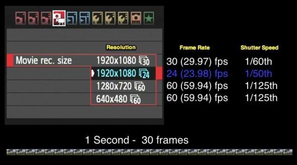 Camera Settings for HDSLR Video