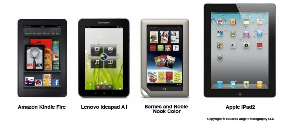 Apple iPad 2 vs Amazon Kindle Fire vs Lenovo Ideapad A1
