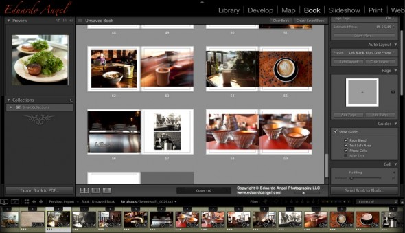Adobe Lightroom 4 Book Layout