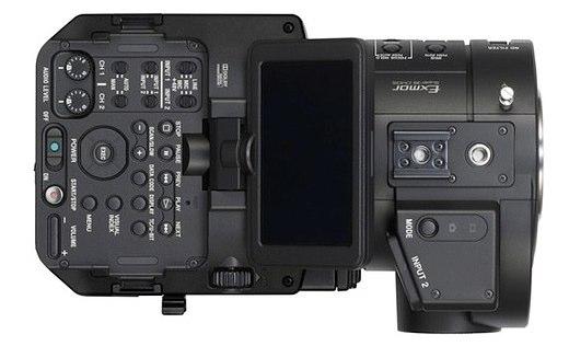 Sony NEX-FX700 top view